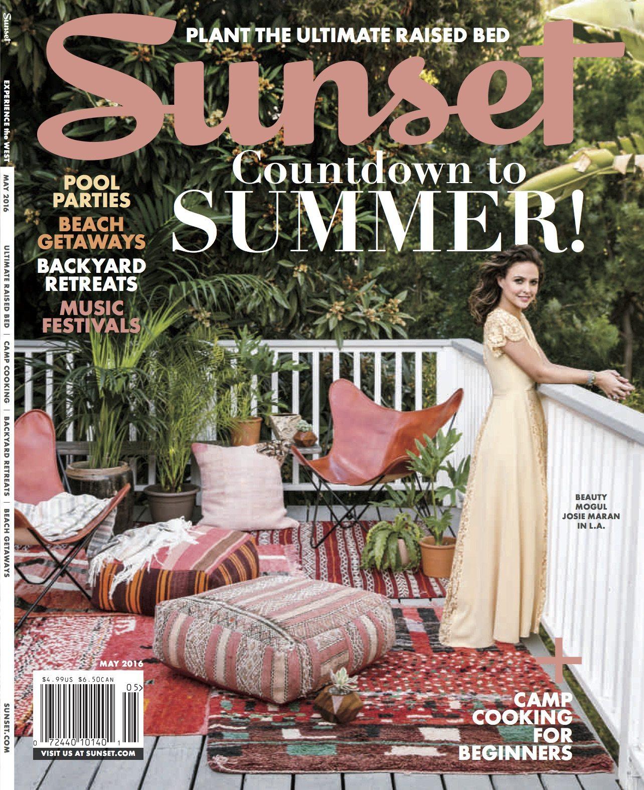 Sunset May 2016 magazine cover