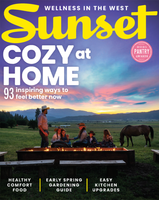 Sunset Magazine March 2021 Cover