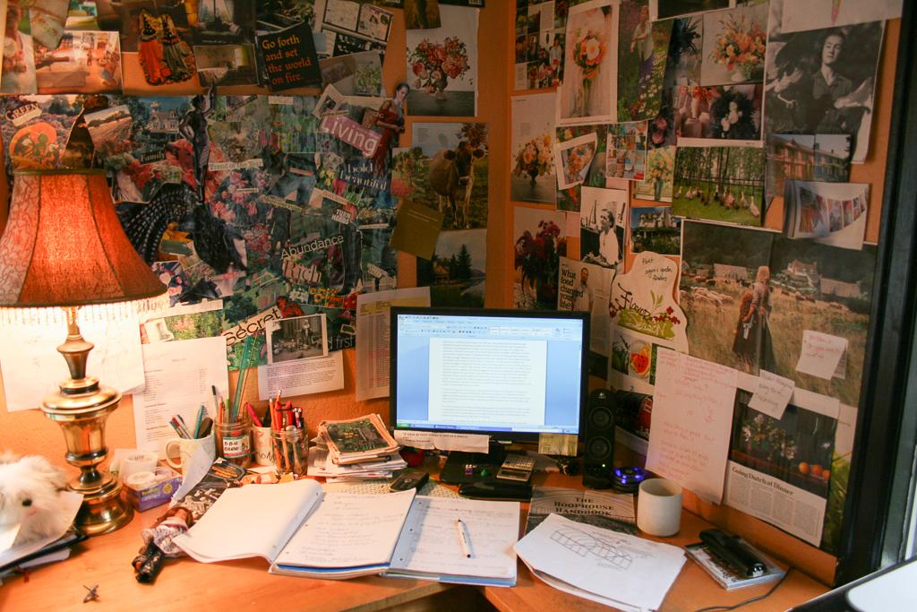 Erin Benzakein's office years ago